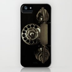 Old rotary dial phone iPhone (5, 5s) Slim Case