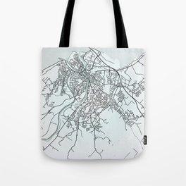 Inverness, Scotland, White, City, Map Tote Bag