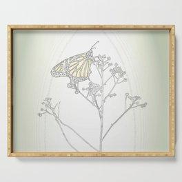 """""""Grafik 030"""" Butterfly Art by Murray Bolesta Serving Tray"""