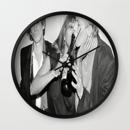 KeithRichards, TinaTurner & DavidBowie photo, housewarming gift for him-her, photo print, vintage poster, music poster, wall decor Wall Clock
