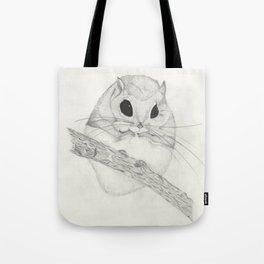 Fuzzball-white Tote Bag