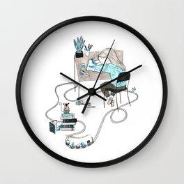 Work & Play Wall Clock