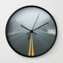 Driving through Fog Wall Clock