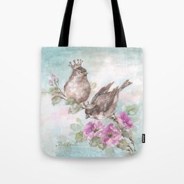 French Crown Songbirds I Tote Bag