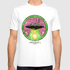 UFO SERPO SMALL White Mens Fitted Tee