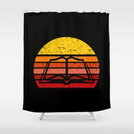 Classic Retro Vintage Book Lover Gift Shower Curtain
