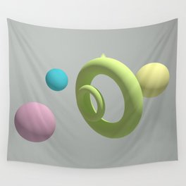 circle of the edge Wall Tapestry