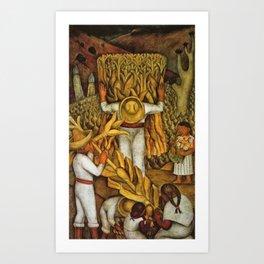 La Fiesta del Maiz by Diego Rivera Art Print