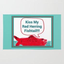 Kiss My Red Herring Fishtail Rug