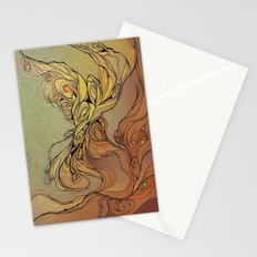 abstract floral composition 2 Stationery Cards