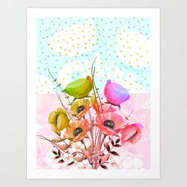 Forever Magic #floral #society6 Art Print