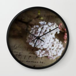 Flowers and music Wall Clock