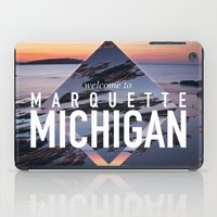 postcard iPad Cases featuring Marquette Postcard by ztwede