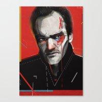 tarantino Canvas Prints featuring Quentin Tarantino by Zaneta Antosik
