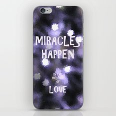 Miracles iPhone & iPod Skin