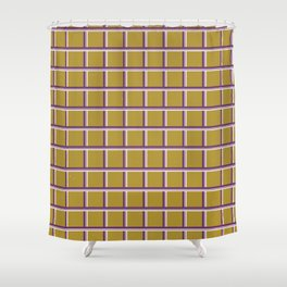 Square grid stripes pattern Shower Curtain