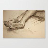 feet Canvas Prints featuring Feet by Mara