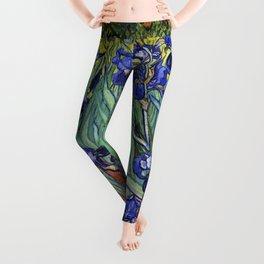 Irises by Vincent van Gogh Leggings
