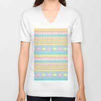 egyptian V-neck T-shirts featuring Egyptian II by Louise Machado