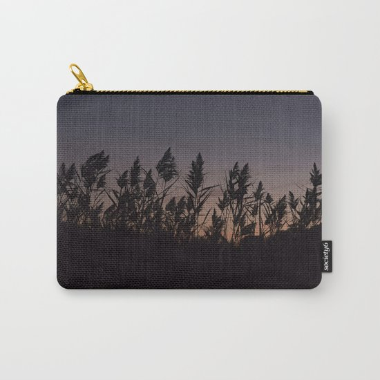 Phragmites silhouette at sunset Carry-All Pouch