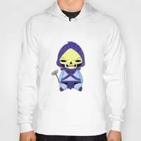 skeletor Hoodies featuring A Boy - Skeletor by Christophe Chiozzi