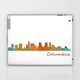 Columbus Ohio, City Skyline, watercolor  Cityscape Hq v1 Laptop & iPad Skin
