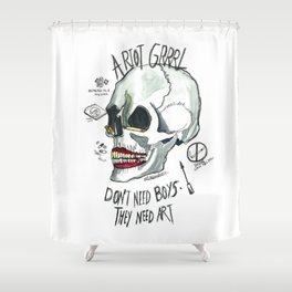 Riot Grrrl Shower Curtain