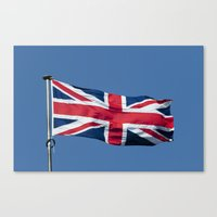 british flag Canvas Prints featuring Flying the British flag by PICSL8