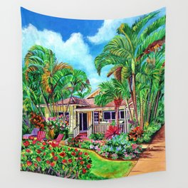 Baby Beach Bungalow 2 Wall Tapestry