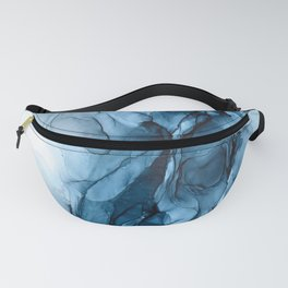 Deep Blue Flowing Water Abstract Painting Fanny Pack