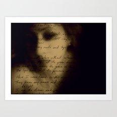 Written Words Art Print