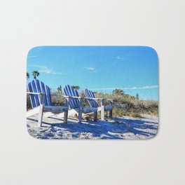 Beach Art - Waiting For Friends - Sharon Cummings Bath Mat