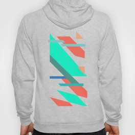 Neon Grapefruit and Electric Mint Shapes Hoody