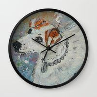 virginia Wall Clocks featuring Virginia by gretzky