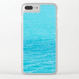 Sea's surface Clear iPhone Case