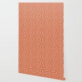 Irregular Small Polka Dots terracota Wallpaper
