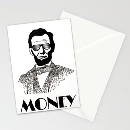 Abraham Lincoln is Money Stationery Cards