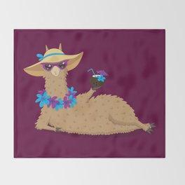 Bahama Llama Throw Blanket