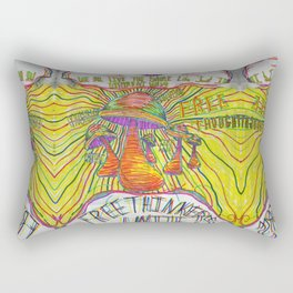 Free Thought Rectangular Pillow