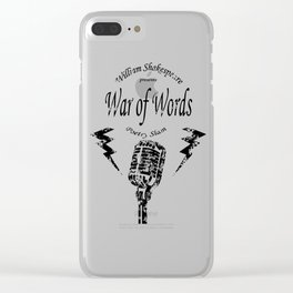 War of Words Clear iPhone Case