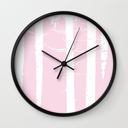 Pink Forest Pattern Wall Clock