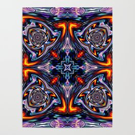 Fire Grid Poster