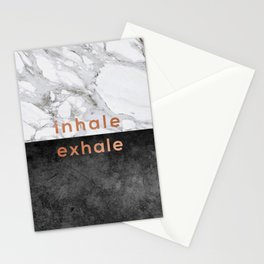 Inhale Exhale Copper Stationery Cards