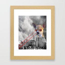 Chihuahuazilla Framed Art Print