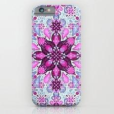 Lush Pink Flower Pattern iPhone 6s Slim Case