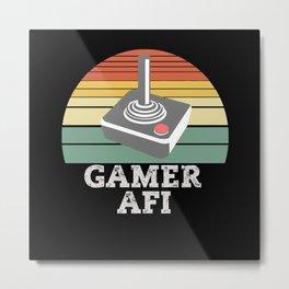 Gamer AFI Retro Game Metal Print