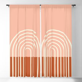 Terracota Pastel Blackout Curtain