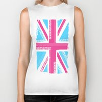 union jack Biker Tanks featuring Union Jack Fashion by Berberism Lifestyle