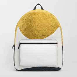 Golden sun warms the cold planet Backpack