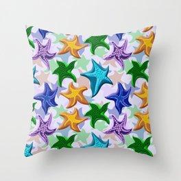 Glitter Beaded Starfish Throw Pillow